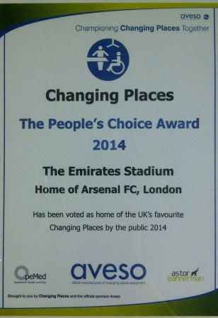 Changing Places Award